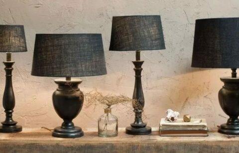 деревянная лампа