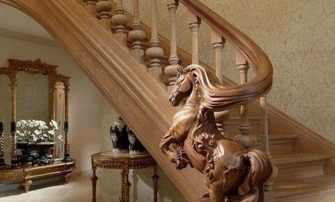резные перила для лестницы
